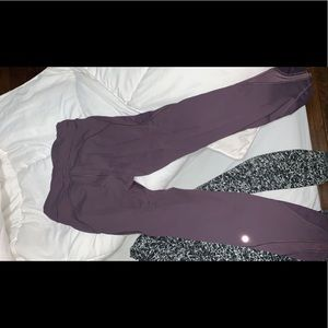 Lulu lemon purple leggings. SO CUTE!
